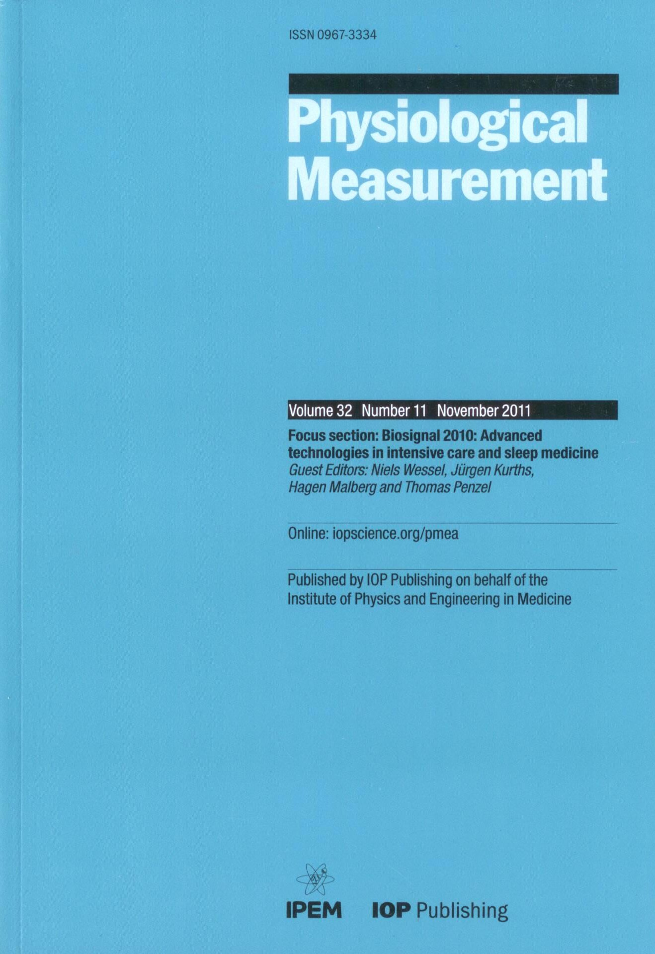 Reprinted with permission from IOPscience, Physiological Measurement